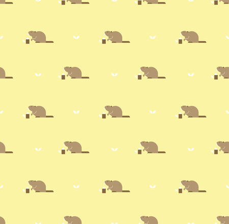 mink: beaver pattern