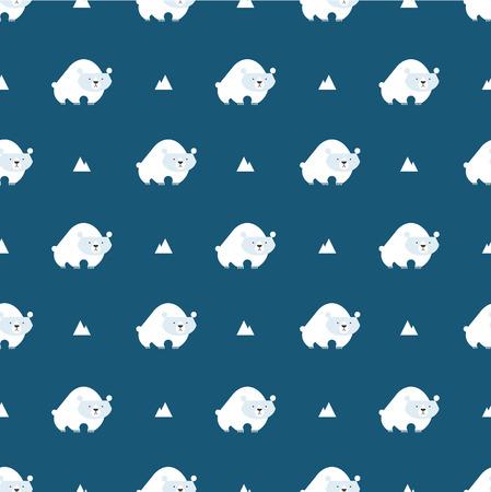 ursa: polar bear pattern Illustration