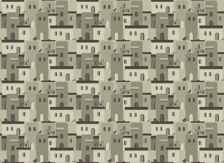 threshold: Arab houses pattern Illustration