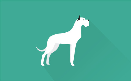 dane: great dane vector flat illustration clean and simple style