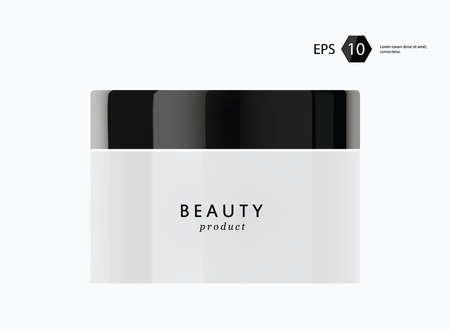 woman face cream: a vector modern beauty package presentation product