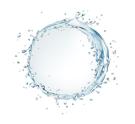 vector water splash bubble