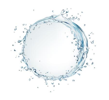 Bolla di acquazzone di acqua di vettore