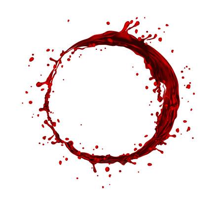vector wine splash circle