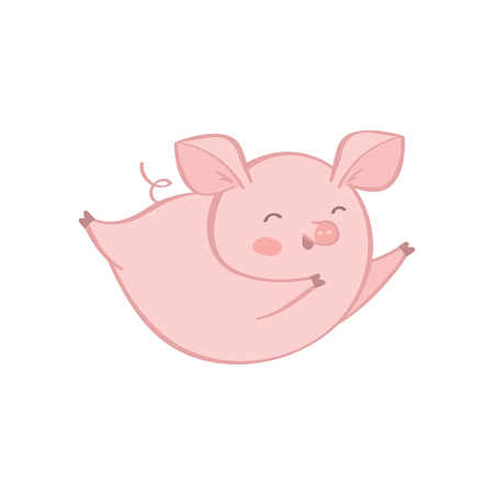 vector pig on white background cartoon style