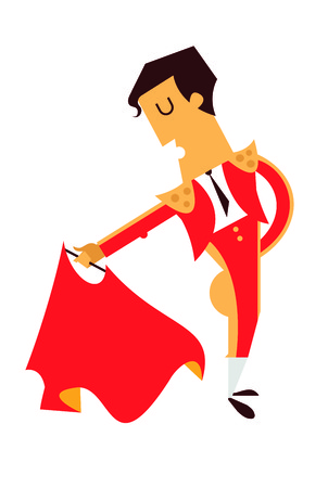 Spanish matador vector illustration male character isolated
