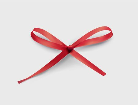 red bow realistic vector illusration for holidays