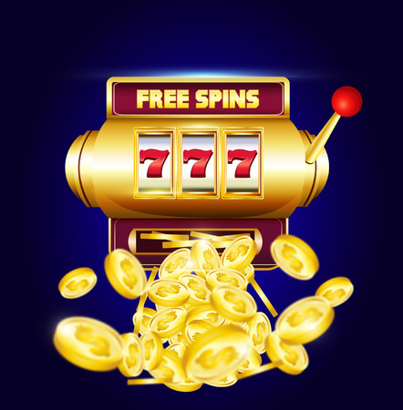 777 slots 3d machine with big win coins and inscription