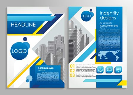 Business brochure or presentation stylish design template. Vector illustration for advertising, promo, presentations, reviews etc