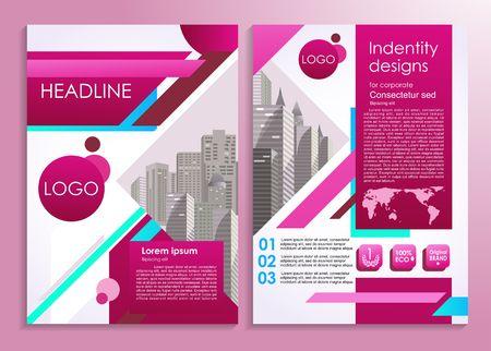 Business flyer or presentation stylish design template. Vector illustration for advertising, promo, presentations, reviews etc