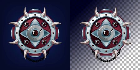 Weapon shield design for games, blogs etc. Vector game weapon