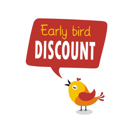 Early bird special flyer or banner design template. Early bird discount promotion. Vector illustration 向量圖像