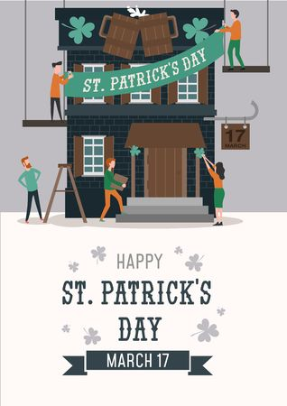 Happy Patricks day illustration for banner, invitations,advertising etc. Happy Patricks day vector poster.