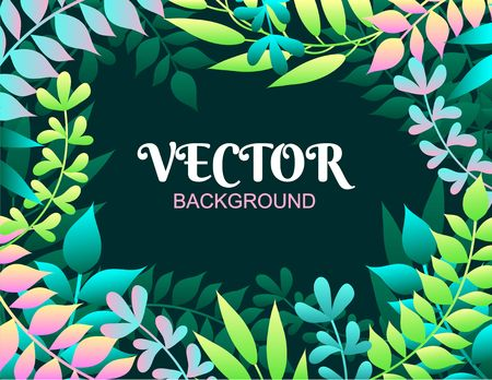 Colorful spring background with leaves. Vector illustration for summer of spring invitations, posters, greeting cards etc. Иллюстрация