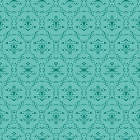 Green ornamental swirl background