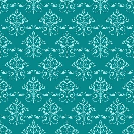 Kelly and Green Ornamental Swirl Background with Celadon Touch Illustration