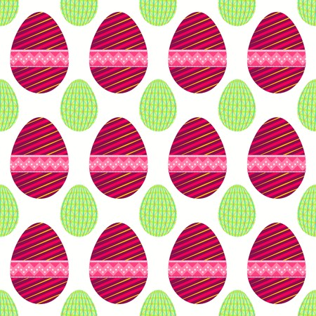 Seamless pattern of purpule easter eggs with small light green patterned eggs Illustration