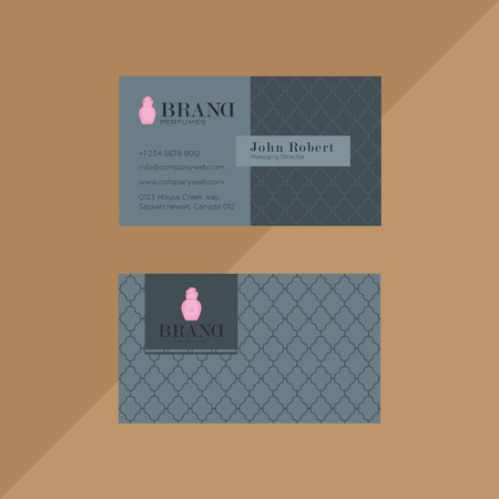Corporate dark and light grey business card