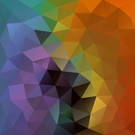 Rusty orange and pigeon blue polygonal background with a touch of green, yellow and grey