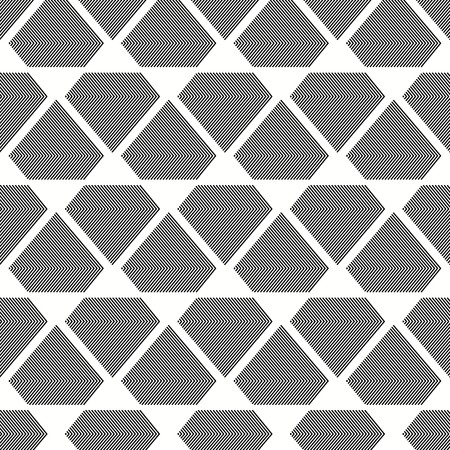 Seamless grey and white inverted diamonds pattern Vector illustration.