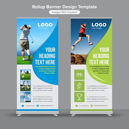 Health and fitness roll up banner