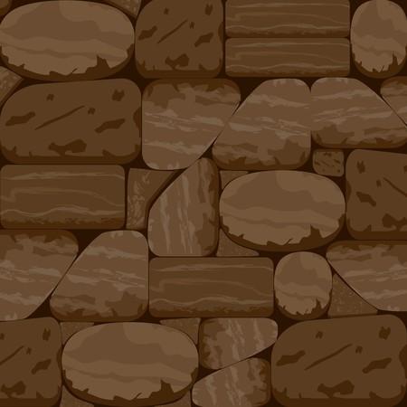 Stone Textured Background in Chocolate Walnut Tone Ilustrace