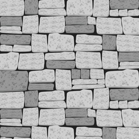Brick Textured Background in Dim and Light Grey Tone Ilustrace