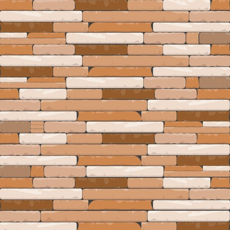 Brick Textures Background in Shades of Brown and Creamy White