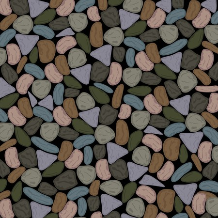 Multicolored Pebbles Background in Dull Grenish Grey Tones