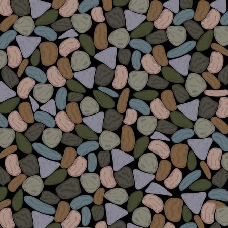 Priorità bassa multicolore dei ciottoli nei toni grigi Grenish opachi