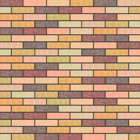 Multicolored Marble Brick Background in Retro Shades