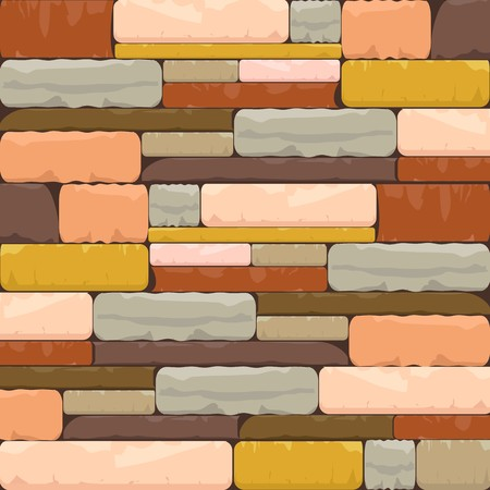 Multicolor Brick Textured Background with Varied structure Ilustrace