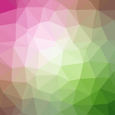 Quad Color Polygonal Background in Candy Pink and Grassy Green Tones