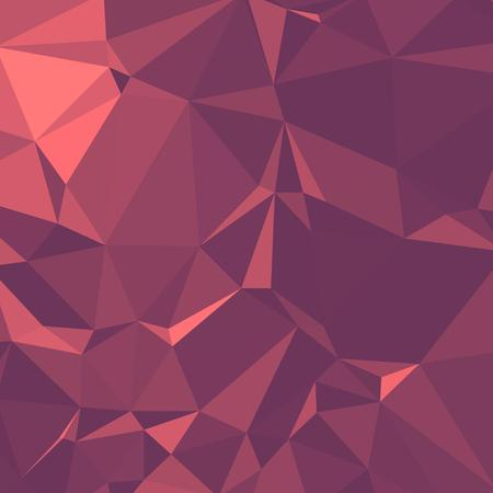 Shiny Polygonal Background in Coral Rosewood Tones