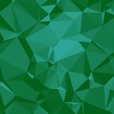 Shiny Polygonal Background in Emerald seaform green Tones