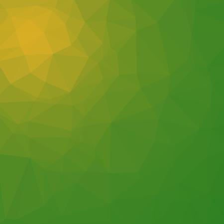 Polygonal background in grassy green and lime shades. Illustration