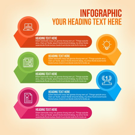 Education infographic in colorful horizontal bars