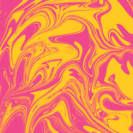 Rosey Yellow Liquid Marble Background  イラスト・ベクター素材