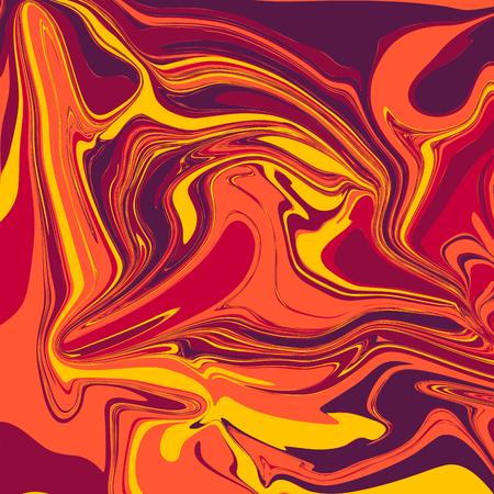 Liquid Marble Backgrounds in Lava Tones  イラスト・ベクター素材