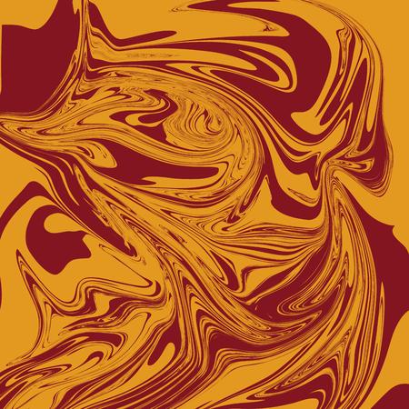 Mustard Brown Liquid Marble Background
