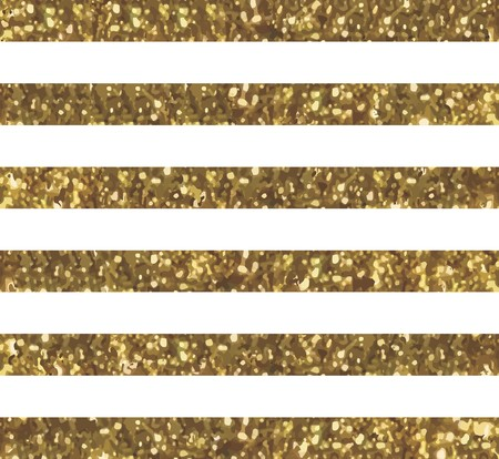 Glitter Striped Pattern with Sparkly Gold Effect