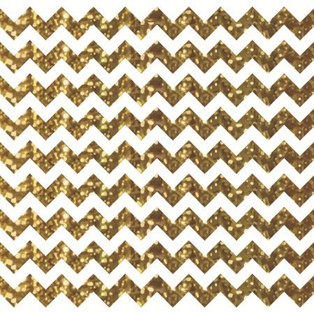 Patrón de Chevron blanco con efecto dorado brillante Ilustración de vector