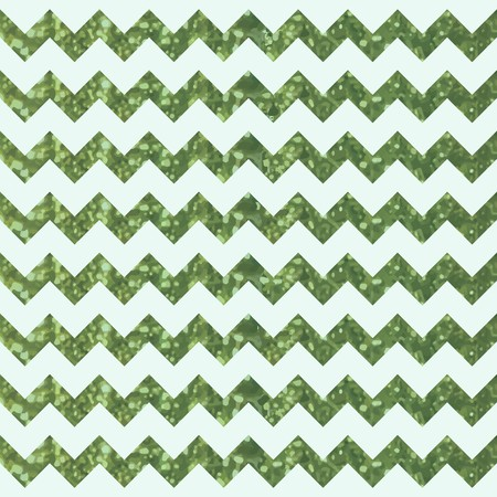 Basil Green Zigzag Pattern with Glittery Effect
