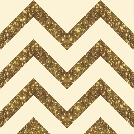 Wide Glittery ZigZag Peak in Golden Shade