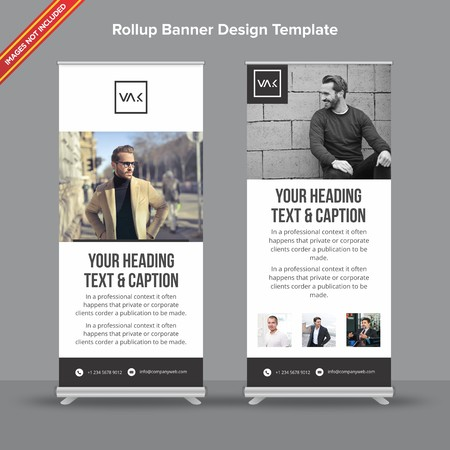 Rollup Banner with black minimal design will take care of all your indoor and outdoor advertising needs or displaying promotional information.