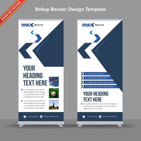 Corporate dark and light blue Rollup Banner Ilustracja