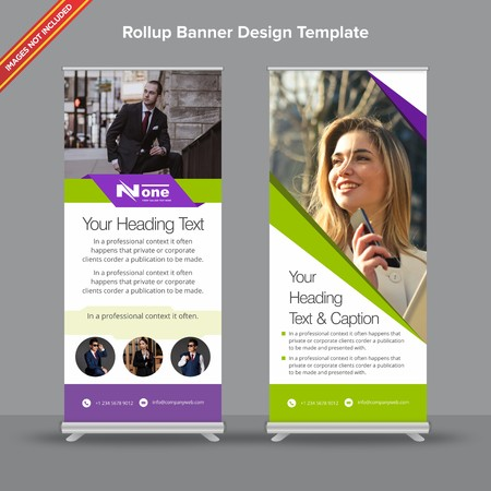 Rollup Banner with neon green shade will take care of all your indoor and outdoor advertising needs or displaying promotional information.