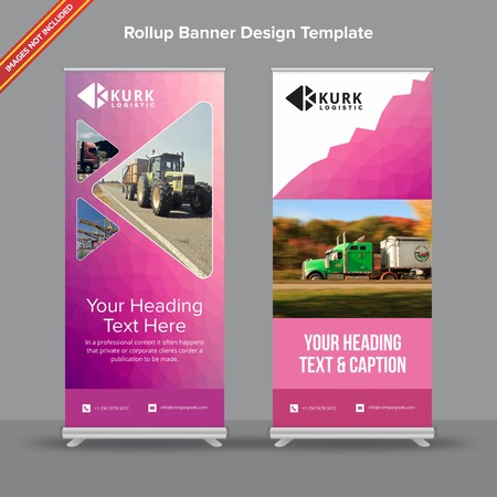 Rollup Banner with polygonal mesh effect will take care of all your indoor and outdoor advertising needs or displaying promotional information.