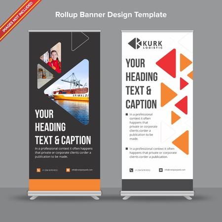 Dark grey and white Geometrical Rollup Banner