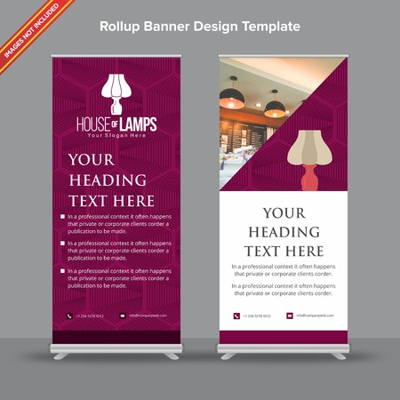 Rollup Banner with textural plum tone will take care of all your indoor and outdoor advertising needs or displaying promotional information.